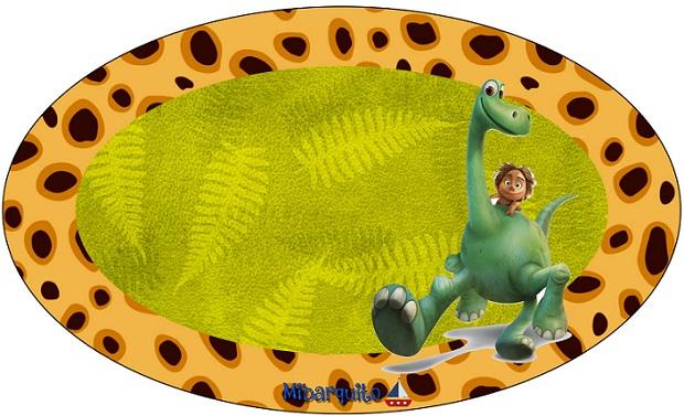 Sticker Etiqueta ovalada Un Gran Dinosaurio
