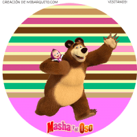 Kit Imprimible de Masha y El Oso descarga gratis