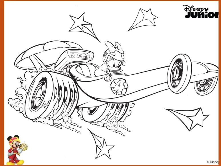 Dibujos Para Colorear De Mickey Aventuras Sobre Ruedas Mi Barquito