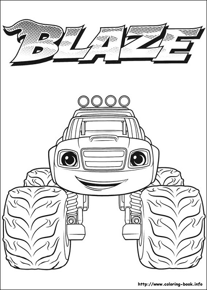 Dibujos Para Colorear De Blaze And The Monsters Machine Mi
