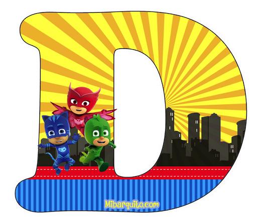 Pj Masks O Heroes En Pijamas Letras Abecedario Para Descargar