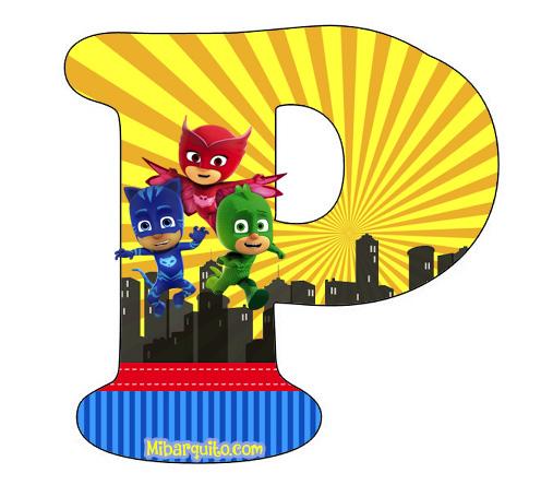 Heroes Super Letras Para Imprimir De Abecedario