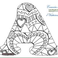 Letras Abecedario Mandalas para colorear