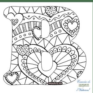 Letra B alfabetos mandalas