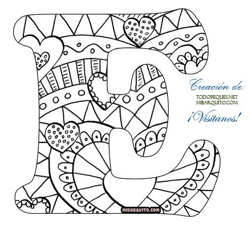 Letras Abecedario Mandalas para colorear | Mi Barquito
