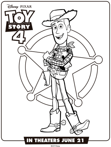 Toy-Story-4-Dibujos-para-colorear-Woody