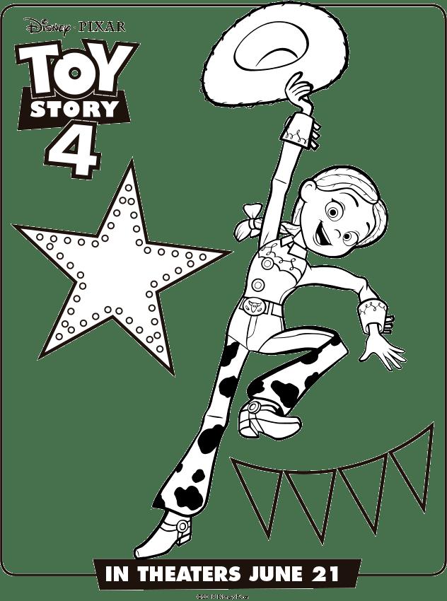 Jessie Toy Story 4 Para Colorear