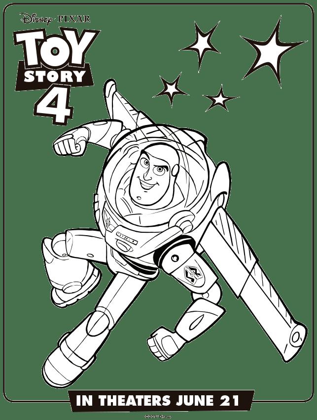 Toy Story 4 Buzz Lightyaer Colorear Dibujos Mi Barquito