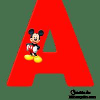 Letras de Mickey Alfabeto para imprimir gratis
