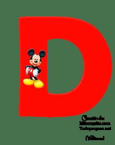 Mickey letters - mickey alphabet
