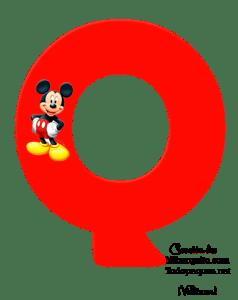 Alfabetos de Mickey - Letras de Mickey