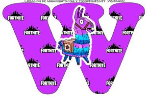 Alfabeto de Fortnite para imprimir gratis