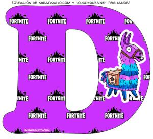 Fortnite letras fondo violeta