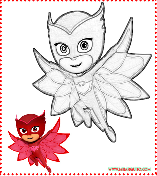 Heroes en Pijamas Dibujos para colorear
