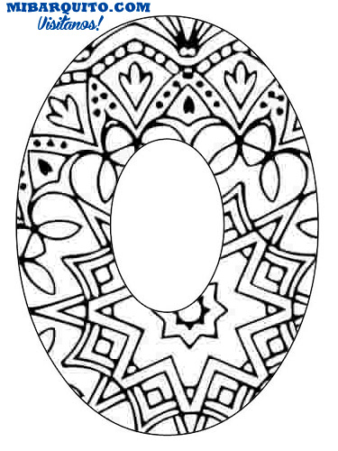 Mandala Numbers coloring pages