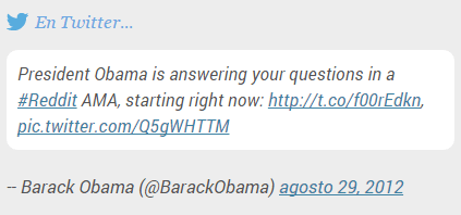 Reddit AMA con Obama
