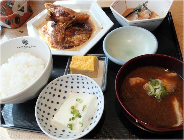 魚忠ランチ、メイン:鯛のあら炊き
