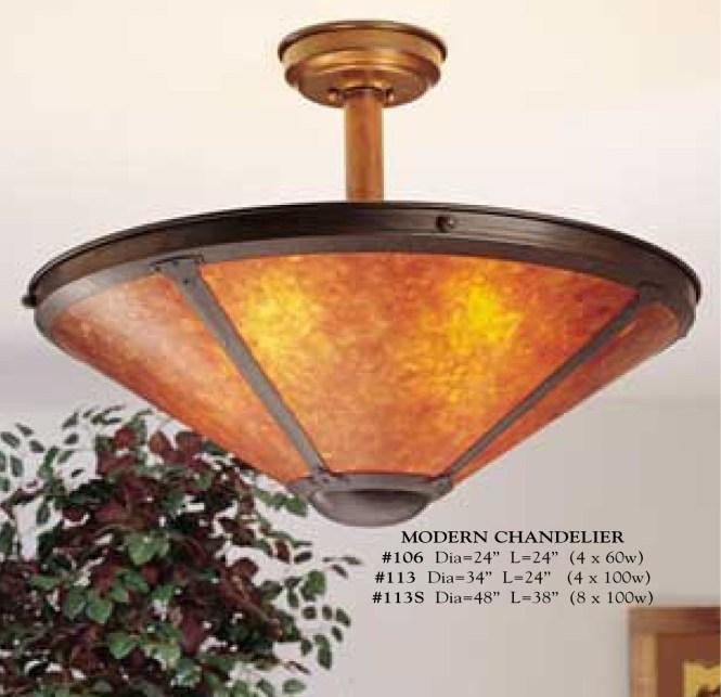 Mica Lamp Company Modern Chandeliers