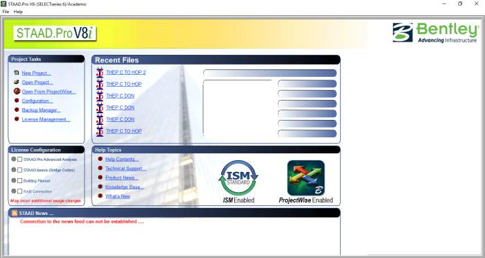 STAAD.Pro V8i phiên bản phần mềm được nhiều người dùng yêu thích