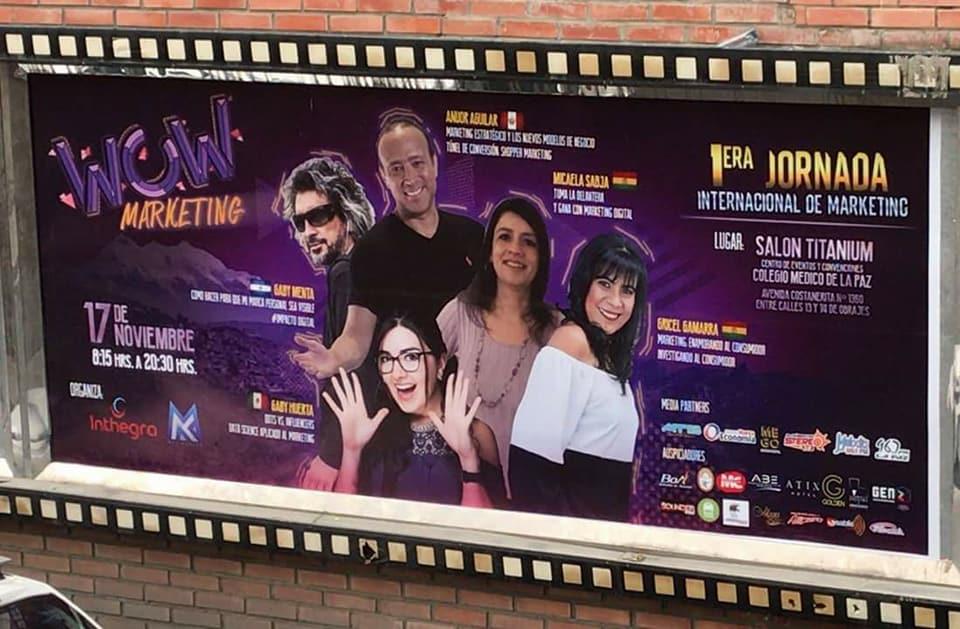 Speakers Wow Marketing: Mica Sabja, Gaby Menta, Grice Gamarra, Gaby Huerta y Anuor Aguilar