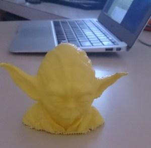 Yoda 3D printed head