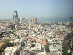 Tel Aviv Skyline looking towards Jaffa Port