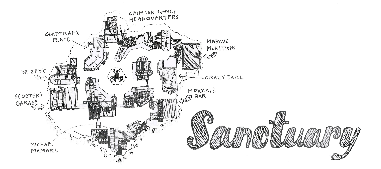 Fantasy Map Sanctuary Borderlands Illustrated Maps