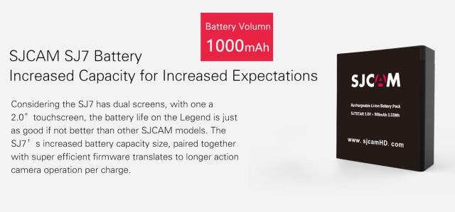 sjcam sj7 star 4k batería