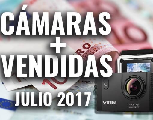 cámaras de acción más vendidas jullio 2017 amazon 4k