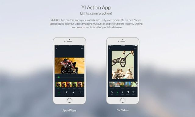app yi lite action camera