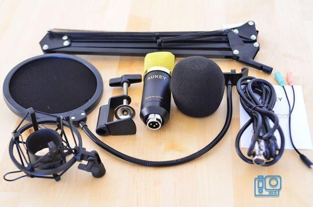 micrófono estudio aukey