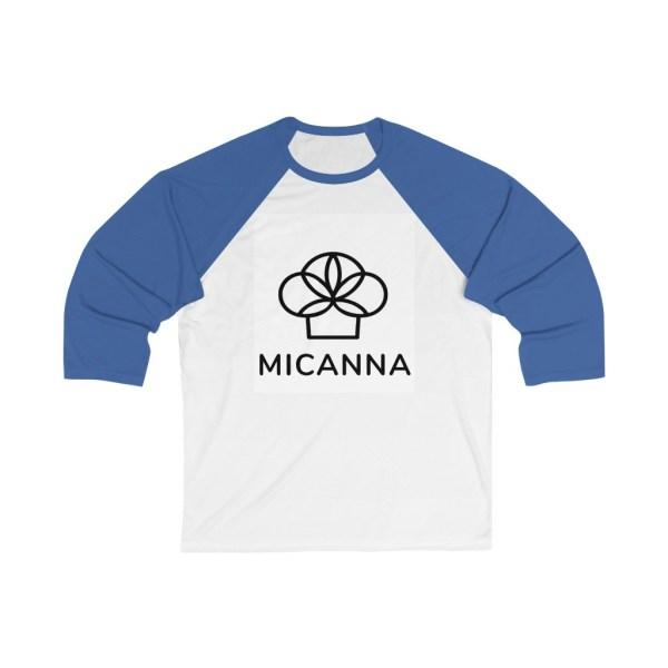 Micanna Unisex Baseball Tee - Blue