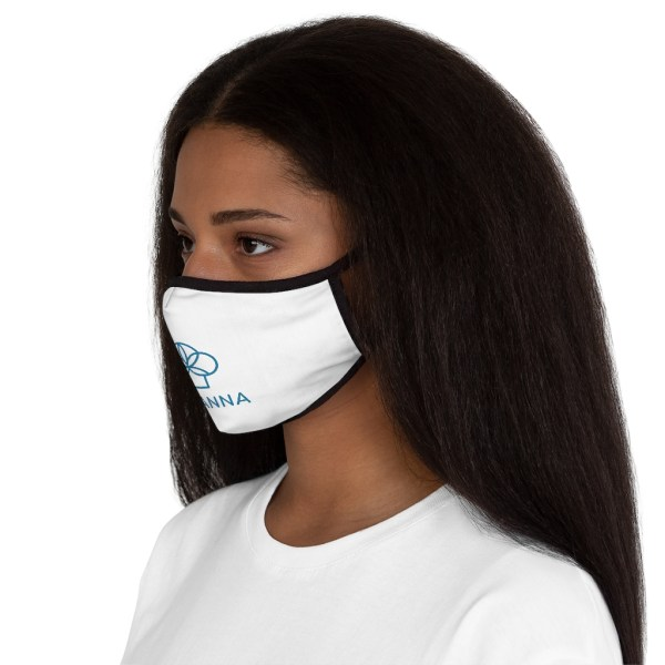 Women wearing Micanna Fitted Polyester Face Mask Side View