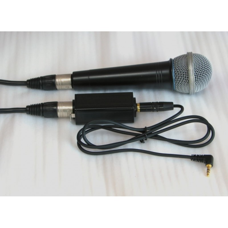 Xlr Balanced Mic Adaptor For Recorder Or Camera