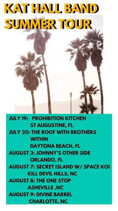 Kat Hall Band Summer 19 Tour Schedule