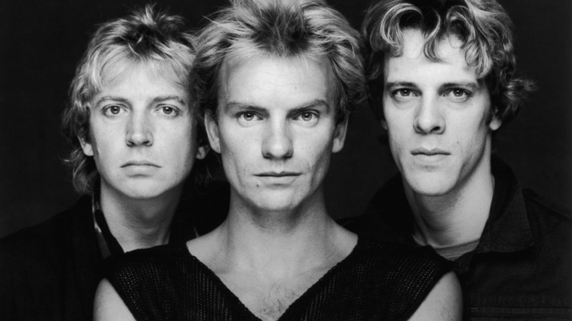 A picture of the three members of The Police.
