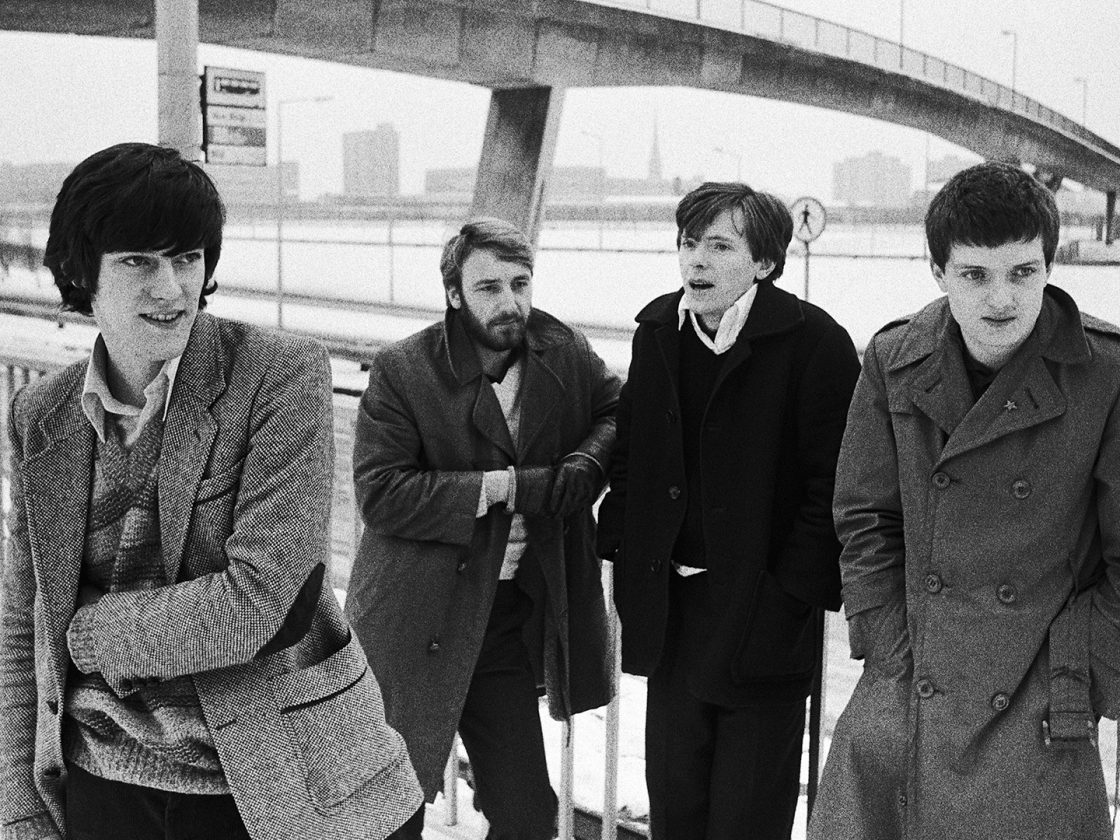 A picture of the members of Joy Division.