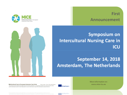 Critical Care Nurses in Europe and abroad: Mark your calendar for September 14, 2018.