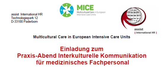 Practice evening on multicultural communication in healthcare. Paderborn (Germany), September 18, 2018.