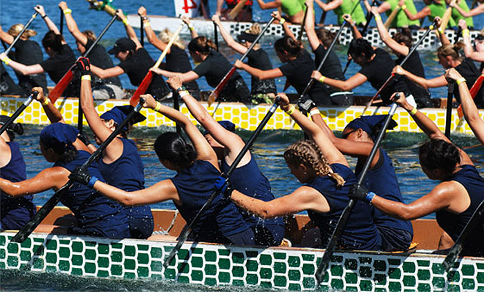 dragonboating racing training and teambuilding