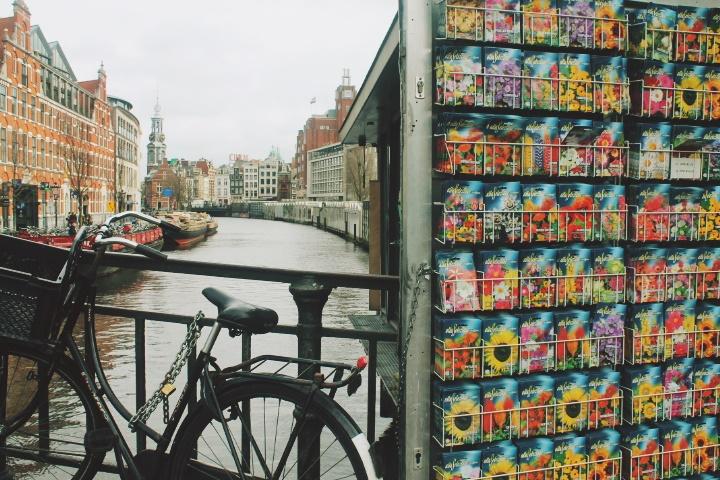 Bicicleta en el mercado de las flores