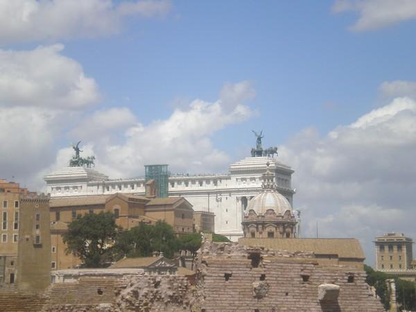 Blick über das alte Rom