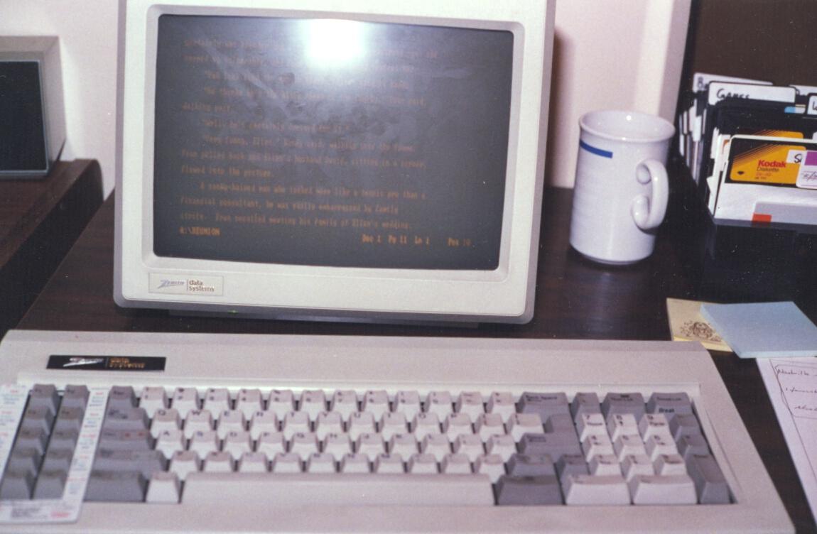 Zenith Z8080 IBM PC Clone. My first computer.
