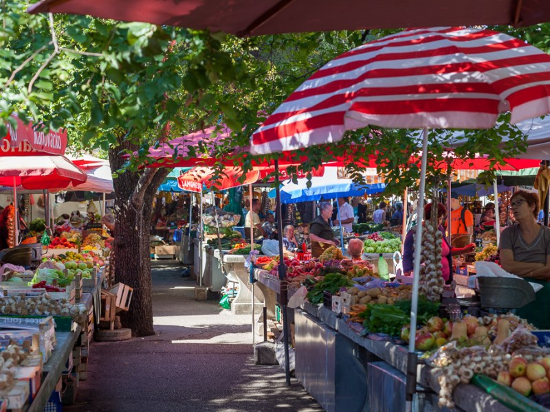 Markt in Trogir, Kroatien