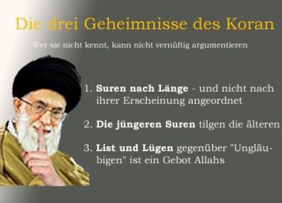 drei geheimnisse des Koran