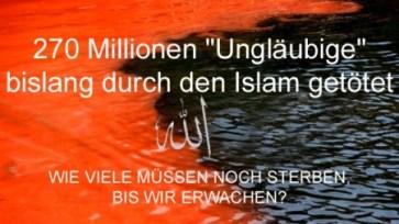 270 Mio Tote durch Islam