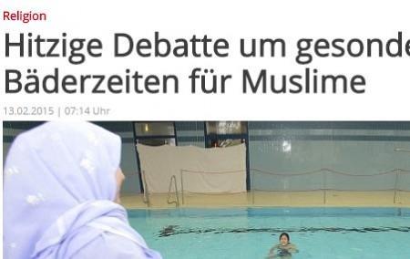 Badezeiten fuer Moslems