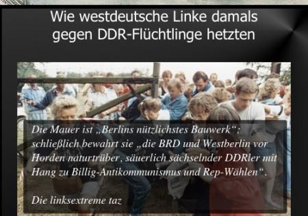 Linke hetzten gegen DDR-Fluechtlinge
