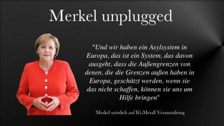Merkels Stussrede