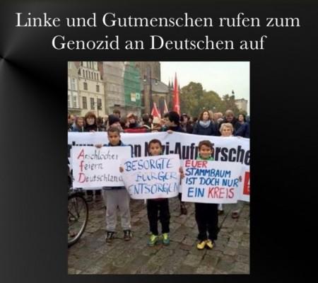 Linke fordern Genozid an Deutaschen